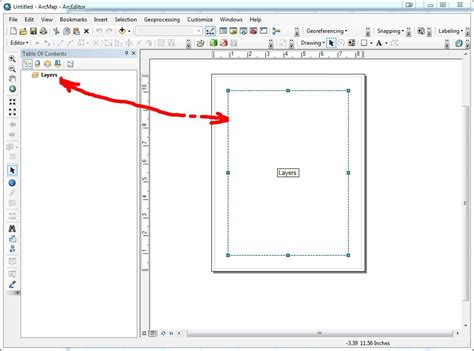 arcgis layout view data frame obtaining envelope of data frame in layout using