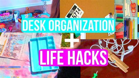 Desk Organization Life Hacks Back To School 2015 Youtube Back To School Desk Organization
