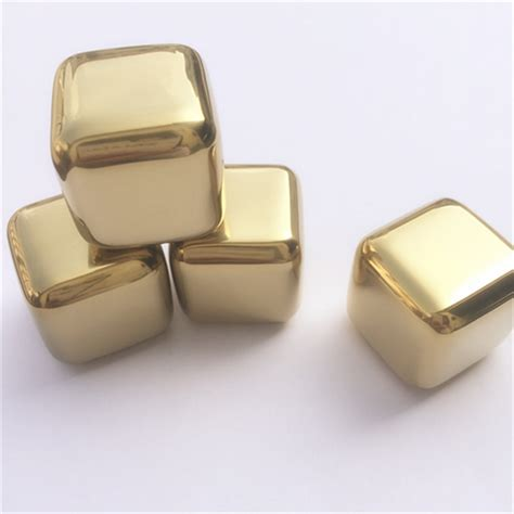 Soapstone Cubes Andi 2017 New 5pcs Lot Golden Stainless Steel Whiskey