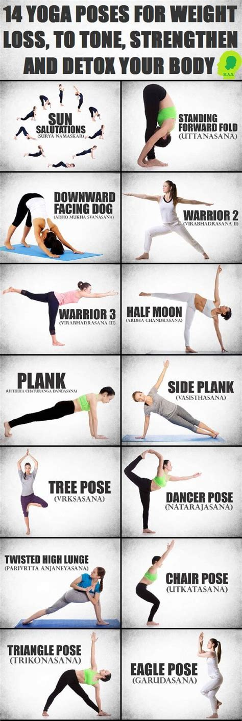 Postures To Detox by 14 Poses For Weight Loss To Tone Strengthen And