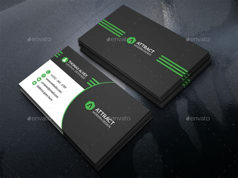 modern cards modern business card by aleepixel graphicriver