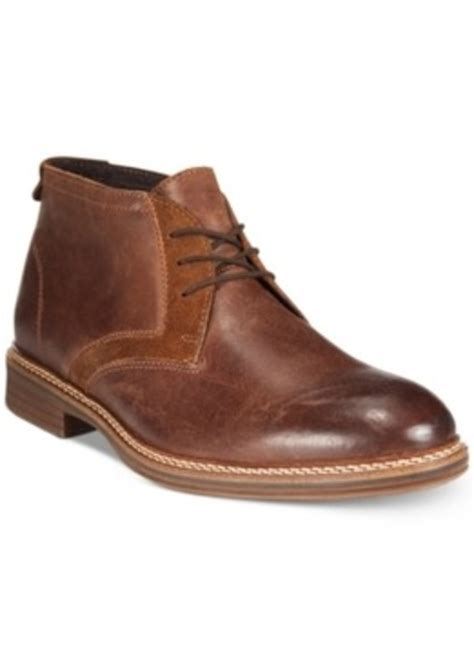 macys mens athletic shoes alfani alfani mixed media chukka boots only at