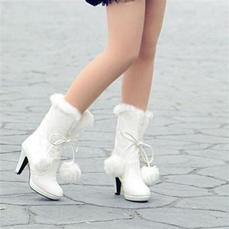 Winterhochzeit Schuhe by Size34 39 S Winter White Pink Black Platform High