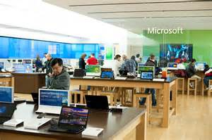 Display Bookcase Microsoft Retail Store Sometimes Less Is More Design