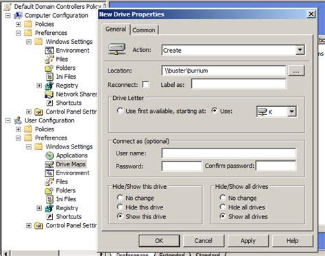 gpo mapped drives logon script assign logon scripts via policy