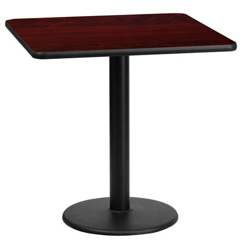 square table top 24 square mahogany laminate table top with 18 table height base