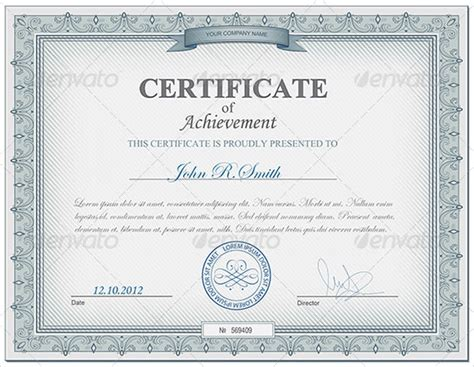 templates for certificates of achievement certificates of appreciation certificate templates