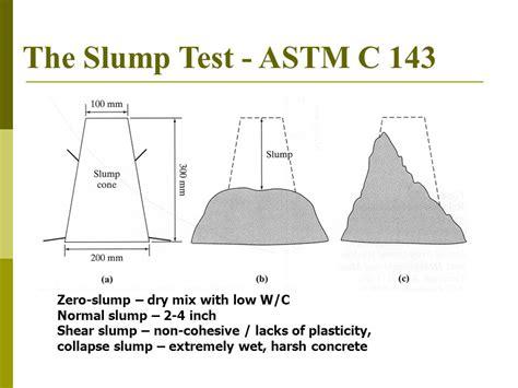 Slump Test properties of fresh concrete ppt