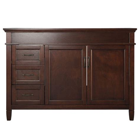 Bathroom Vanity Cabinet Only Foremost Ashburn 48 In W Bath Vanity Cabinet Only In Mahogany Asga4821d The Home Depot