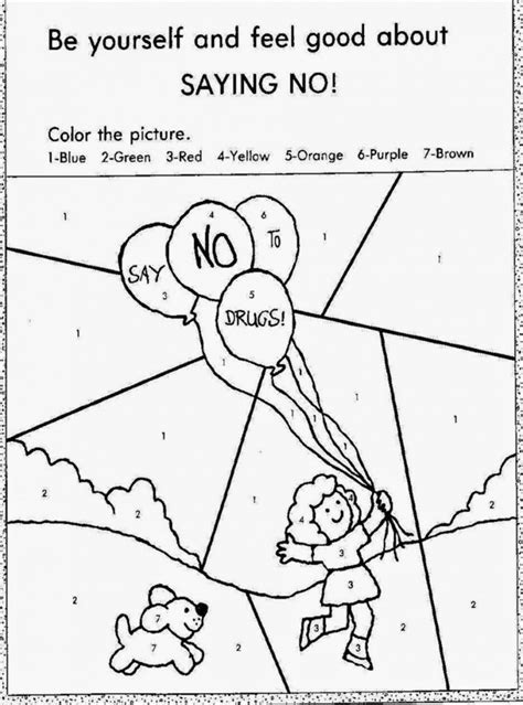 coloring pages for drug free week http colorings co drug free coloring pages for kids