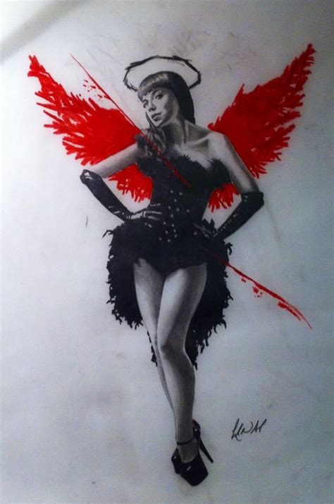 polka trash angel design by creativecursekina on deviantart