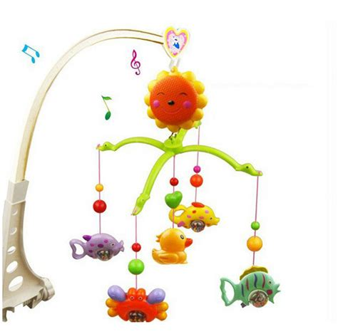 baby toys for crib baby bed crib musical hanging rotate bell ring rattle