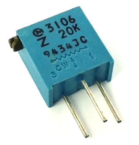 20 ohm variable resistor 20k ohm variable resistor trimpot pot3106z 1 203 west florida components