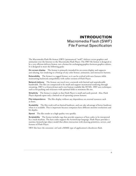 video file format specification flash file format specification