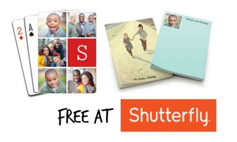 Where Can You Buy A Shutterfly Gift Card - shutterfly deal free playing cards or note pads southern savers