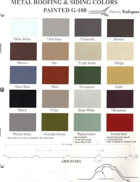 metal paint colors metal roof paint colors metal paint color sles at