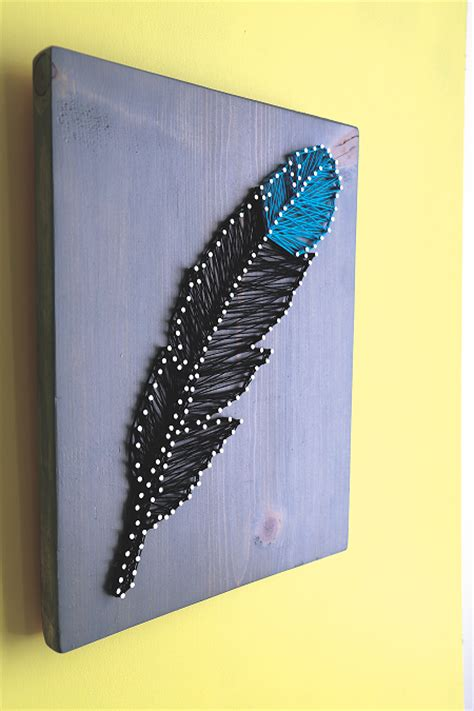 String Peacock Pattern - feather string for wall hanging craftfoxes