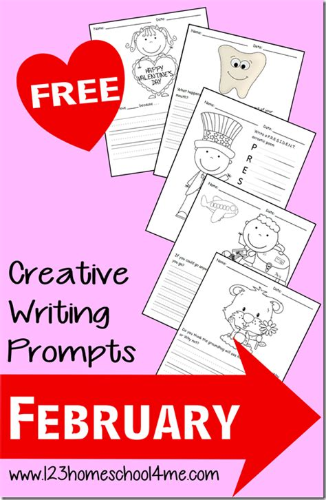 valentines day writing prompts free february writing prompts