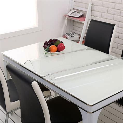 waterproof pvc protector for table yazi pvc clear tablecloth waterproof table protector