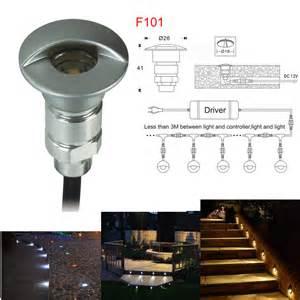 Outdoor Led Deck Lights Aliexpress Buy 0 6w Dc12v Led Step Light Outdoor Led