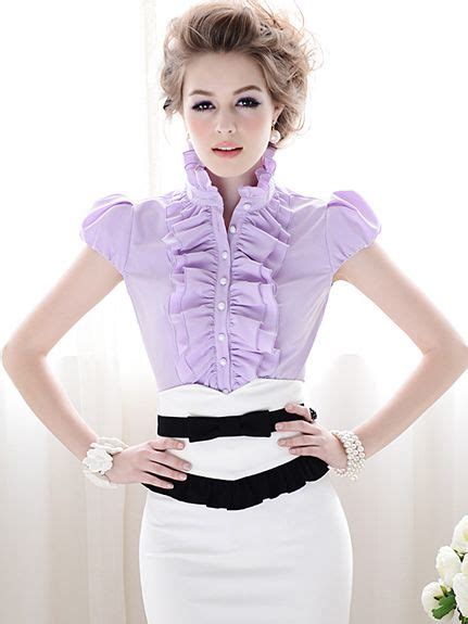 Wash In Hair Color For Men - elegant style ruffle puff sleeve slim blouse