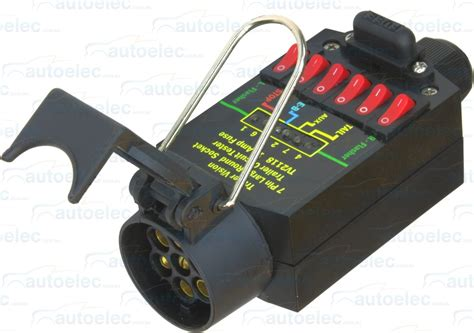 7 pin trailer socket tester 12 volt 12v 24v 24 light