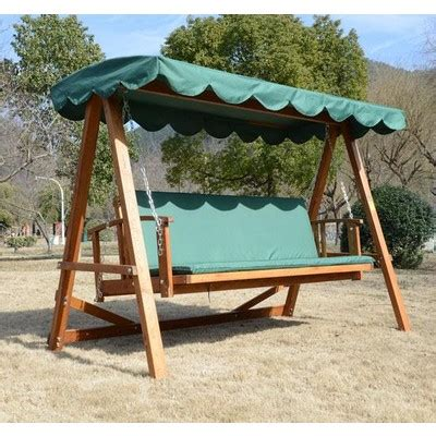 Patio Swing Canada Outsunny Reclining Solid Wood Patio Swing Canada At
