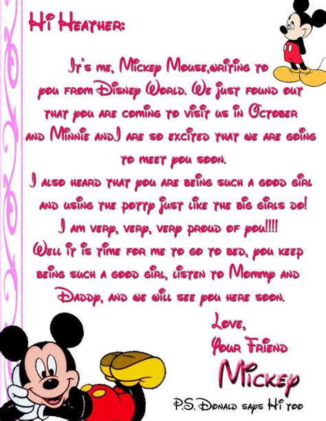 Character Letter For Youth 17 Best Images About Disney On Appreciation Cards Trips And Disney World