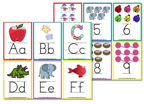 printable number cards preschool more free alphabet flashcards wall posters