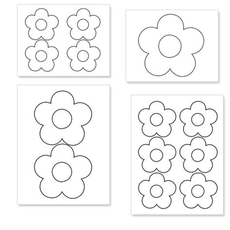 printable flowers to cut printable flower shapes to cut out from printabletreats
