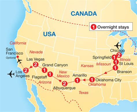 usa map states las vegas global coach tours cosmos tours usa highlights of