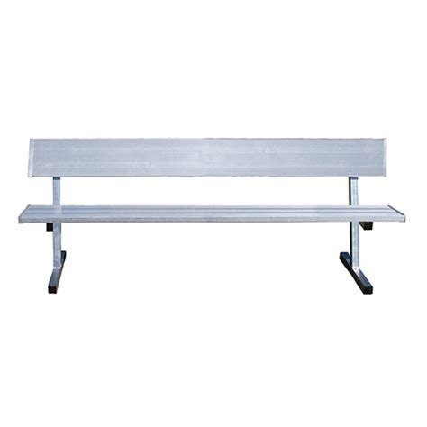 sports bench seating 27 player bench w seat back permanent natural finish