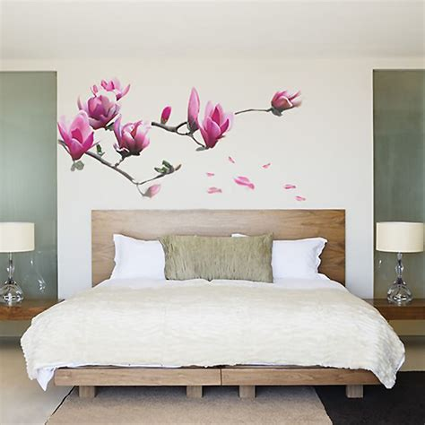 magnolia flowers removable wall sticker decals mural