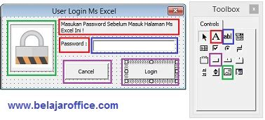 membuat form login vba excel form login password excel vba