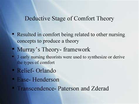comfortable meaning comfort theory kathy kolcaba presentation by erin