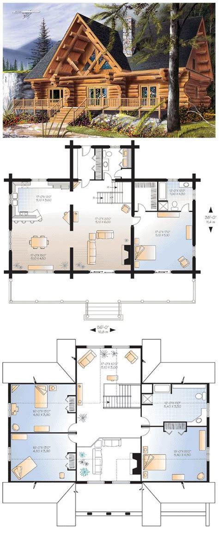 5 bedroom log home floor plans cabin craftsman log house plan 64969 square feet