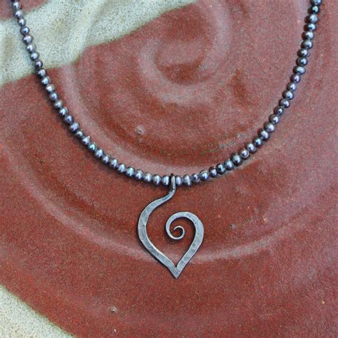 iron jewelry forged iron 6th anniversary necklace on