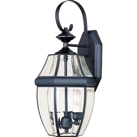 Outdoor Lighting Wall Mount Maxim Lighting South Park 3 Light Black Outdoor Wall Mount 4191clbk The Home Depot