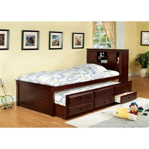 bedroom furniture bookcase headboard furniture of america brighton twin bookcase headboard