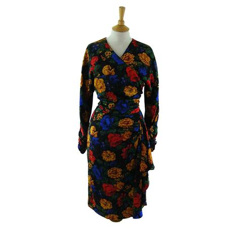 80s floral 80s floral print dress blue 17 vintage fashion