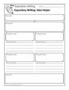 Graphic Organizers For Writing Expository Essays by Expository Writing Worksheet That Helps Students Generate