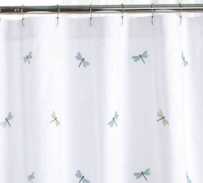 dragon fly shower curtain embroidered dragonflies shower curtain
