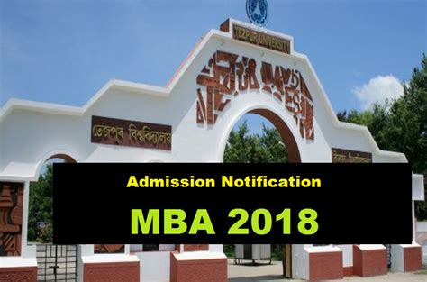 Assam Mba 2017 by Tezpur Mba Admission 2018 Apply