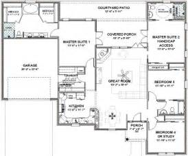 master on house plans floor plans two master suites free home design ideas images