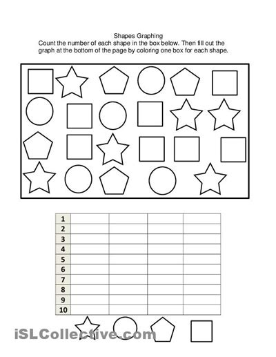 printable picture graphs kindergarten worksheets graphing worksheets for preschoolers