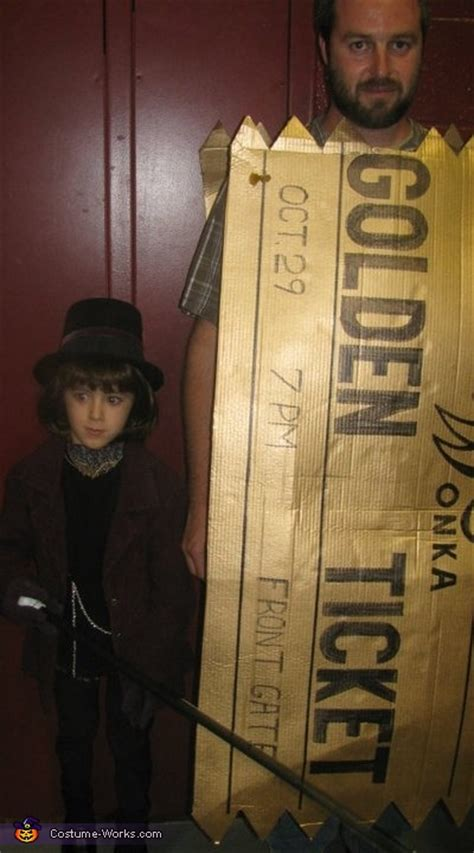 willy wonka   golden ticket halloween costumes