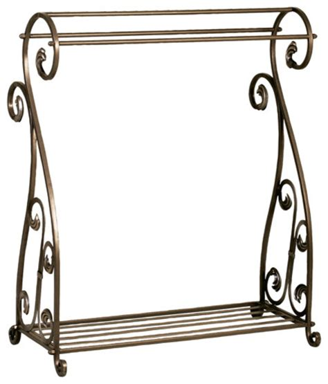 Metal Clothing Racks by Metal Quilt Rack Traditional Clothes Racks By