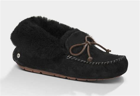 Alena Black Flatshoes by Ugg Alena 1004806 Slippers Black Uggpf00000121