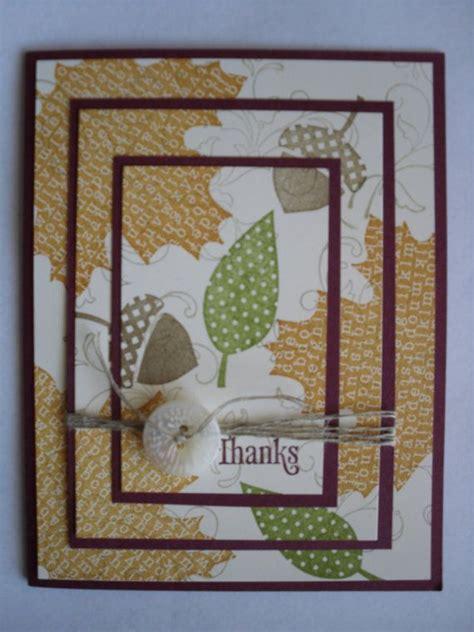 Handmade Thanksgiving Card Ideas - handmade stin up fall thanksgiving card