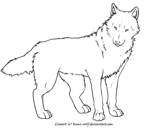 Wolf Lineart Colouring Pages Realistic Wolf Coloring Pages